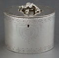 Silver Holloware, British:Holloware, A WILLIAM VINCENT GEORGE III SILVER TEA CADDY . William Vincent,London, England, circa 1775-1776. Marks: (lion passant), (l...