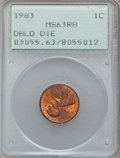 Lincoln Cents: , 1983 1C Doubled Die Reverse MS63 Red and Brown PCGS. PCGSPopulation (36/74). NGC Census: (0/0). Numismedia Wsl. Price for...