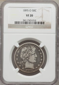 Barber Half Dollars: , 1895-O 50C VF20 NGC. NGC Census: (3/86). PCGS Population (9/139).Mintage: 1,766,000. Numismedia Wsl. Price for problem fre...