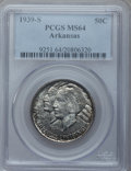 Commemorative Silver: , 1939-S 50C Arkansas MS64 PCGS. PCGS Population (220/308). NGCCensus: (182/224). Mintage: 2,105. Numismedia Wsl. Price for ...