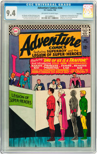 Adventure Comics #346 Twin Cities pedigree (DC, 1966) CGC NM 9.4 Off-white to white pages