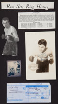 Boxing Collectibles:Autographs, Barney Ross Signed Photograph. ...