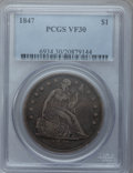 Seated Dollars: , 1847 $1 VF30 PCGS. PCGS Population (18/466). NGC Census: (7/343).Mintage: 140,750. Numismedia Wsl. Price for problem free ...