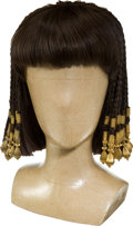 "Movie/TV Memorabilia:Costumes, An Elizabeth Taylor Wig from ""Cleopatra.""..."