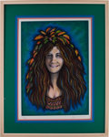 "Music Memorabilia:Memorabilia, Janis Joplin ""Janis, Wood Nymph"" Limited Edition Grace SlickSerigraph Print #280/300 (Area Publishing, undated)...."