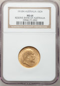 Australia, Australia: Edward VII gold Sovereign 1910M, ...