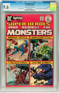DC Special #21 Super-Heroes' War Against the Monsters - Savannah pedigree (DC, 1976) CGC NM+ 9.6 Off-white to white page...