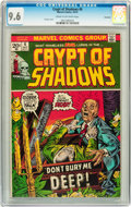 Bronze Age (1970-1979):Horror, Crypt of Shadows #6 Savannah pedigree (Marvel, 1973) CGC NM+ 9.6Cream to off-white pages....