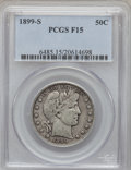 Barber Half Dollars: , 1899-S 50C Fine 15 PCGS. PCGS Population (4/155). NGC Census:(2/80). Mintage: 1,686,411. Numismedia Wsl. Price for problem...
