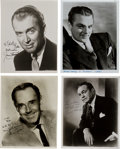 Movie/TV Memorabilia:Autographs and Signed Items, Douglas Fairbanks Sr., James Stewart, and Other Leading Men SignedPhotos.... (Total: 6 Items)