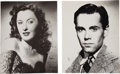 "Movie/TV Memorabilia:Autographs and Signed Items, Henry Fonda and Barbara Stanwyck Signed 11"" x 14"" Photos....(Total: 2 Items)"