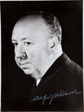 "Movie/TV Memorabilia:Autographs and Signed Items, An Alfred Hitchcock Signed 10.5"" x 14"" Photograph...."