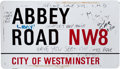 Music Memorabilia:Memorabilia, Beatles Related - Abbey Road Street Sign....