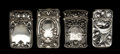 Silver Smalls:Match Safes, A GROUP OF FOUR GORHAM SILVER AND SILVER GILT MATCH SAFES . GorhamManufacturing Co., Providence, Rhode Island, circa 1880-1...(Total: 4 Items)
