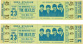 Music Memorabilia:Tickets, The Beatles Shea Stadium 1966 Concert Tickets.... (Total: 2 Items)