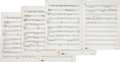 """Music Memorabilia:Documents, The Temptations """"Girl (Why You Wanna Make Me Blue)"""" Sheet Music.... (Total: 4 Items)"""