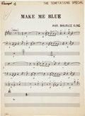 "Music Memorabilia:Autographs and Signed Items, The Temptations ""Girl (Why You Wanna Make Me Blue)"" Sheet Music...."
