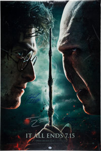 """""""Harry Potter and the Deathly Hallows Part 2"""" Cast-Signed Poster"""
