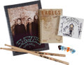 Music Memorabilia:Autographs and Signed Items, The Eagles Band-Signed CD with Tour Memorabilia.... (Total: 11 Items)
