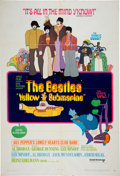 Music Memorabilia:Posters, The Beatles Yellow Submarine Movie Poster (1968)....