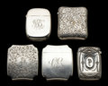Silver Smalls:Match Safes, A GROUP OF FIVE GORHAM SILVER MATCH SAFES . Gorham ManufacturingCo., Providence, Rhode Island, circa 1880-1900. 6.7 troy ou...(Total: 5 Items)