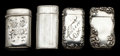 Silver Smalls:Match Safes, A GROUP OF FOUR AMERICAN SILVER AND SILVER GILT MATCH SAFES . 2.82troy ounces. ... (Total: 4 Items)