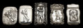 Silver Smalls:Match Safes, A GROUP OF FIVE AMERICAN SILVER GOLF THEMED MATCH SAFES. 4.7 troyounces. ... (Total: 5 Items)
