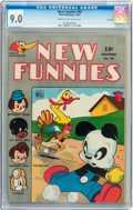 Golden Age (1938-1955):Funny Animal, New Funnies #94 Cream to off-white pages (Dell, 1944) CGC VF/NM 9.0Cream to off-white pages....