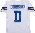 Football Collectibles:Uniforms, Doomsday Defense Dallas Cowboys Multi Signed Jersey....