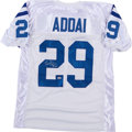Football Collectibles:Uniforms, Joseph Addai Signed Indianapolis Colts Jersey....