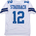 Football Collectibles:Uniforms, Roger Staubach Signed Dallas Cowboys Jersey....