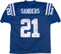 Football Collectibles:Uniforms, Bob Sanders Signed Indianapolis Colts Jersey....