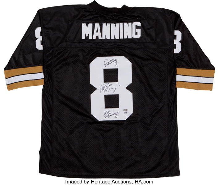 timeless design 0fe9f dc908 Archie, Peyton and Eli Manning Multi Signed Jersey ...