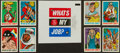 """Non-Sport Cards:Sets, 1965 Leaf """"What's My Job"""" High Grade Complete Set (72) Plus Wrapper...."""