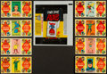 "Non-Sport Cards:Sets, 1966 Topps ""Comic Book Foldees"" Complete Set (44) Plus Wrapper. ..."