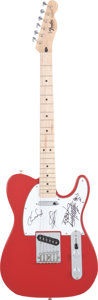 Music Memorabilia:Autographs and Signed Items, Red Hot Chili Peppers Band-Signed Guitar....