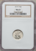 Barber Dimes: , 1911 10C MS63 NGC. NGC Census: (164/402). PCGS Population(202/470). Mintage: 18,870,544. Numismedia Wsl. Price forproblem...