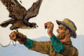 Pulp, Pulp-like, Digests, and Paperback Art, PAUL STAHR (American, 1883-1953). The Falconer, interior Argosymagazine story illustration. Oil on canvas. 16 x 24 in....