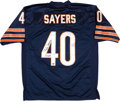 """Football Collectibles:Uniforms, Gale Sayers """"ROY 65"""" Signed Chicago Bears Jersey...."""