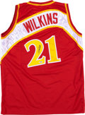 Basketball Collectibles:Uniforms, Dominique Wilkins Signed Atlanta Hawks Jersey....