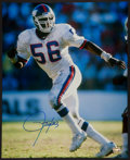 Football Collectibles:Photos, Lawrence Taylor Signed Oversized Photograph....