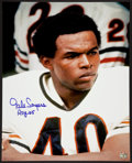 Football Collectibles:Photos, Gale Sayers Signed Oversized Photograph....