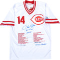 Baseball Collectibles:Uniforms, Pete Rose Signed, Inscribed Cincinnati Reds Jersey. ...