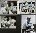 Baseball Collectibles:Photos, Dodgers Legends Signed Photographs Lot of 4....
