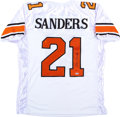 Football Collectibles:Uniforms, Barry Sanders Signed Oklahoma State Jersey....