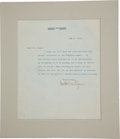 Autographs:Artists, Augustus Saint-Gaudens Typed Letter Signed...