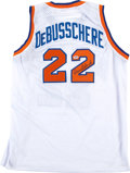Basketball Collectibles:Uniforms, Dave DeBusschere Signed New York Knicks Jersey....