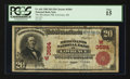 National Bank Notes:Kansas, Lawrence, KS - $20 1902 Red Seal Fr. 641 The Merchants NB Ch. # (W)3584. ...