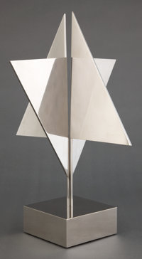YAACOV AGAM (ISRAELI, B, 1928) Multispace Star of David, 1969 Steel Marks to base: AGAM 1963<