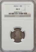 Bust Dimes: , 1823/2 10C Small Es AG3 NGC. NGC Census: (0/92). PCGS Population(1/70). Mintage: 440,000. Numismedia Wsl. Price for proble...